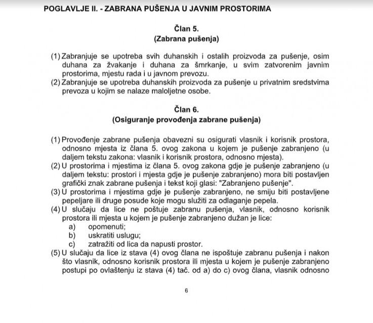 Članom 5. defenirana zabrana