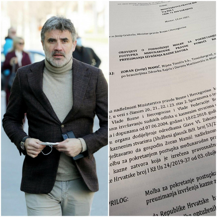 Faksimil dopisa ministru pravde BiH
