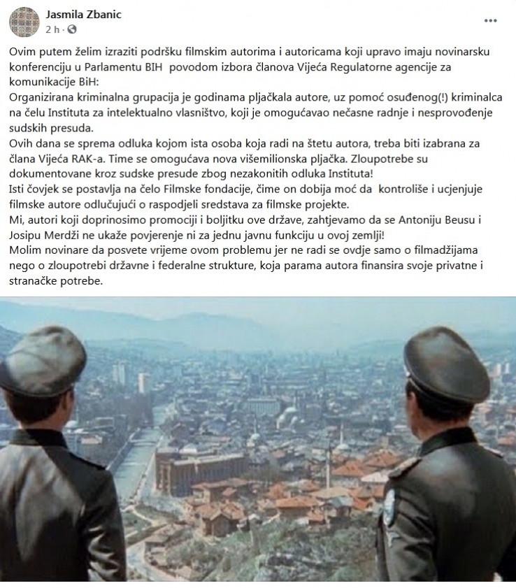Status Jasmile Žbanić