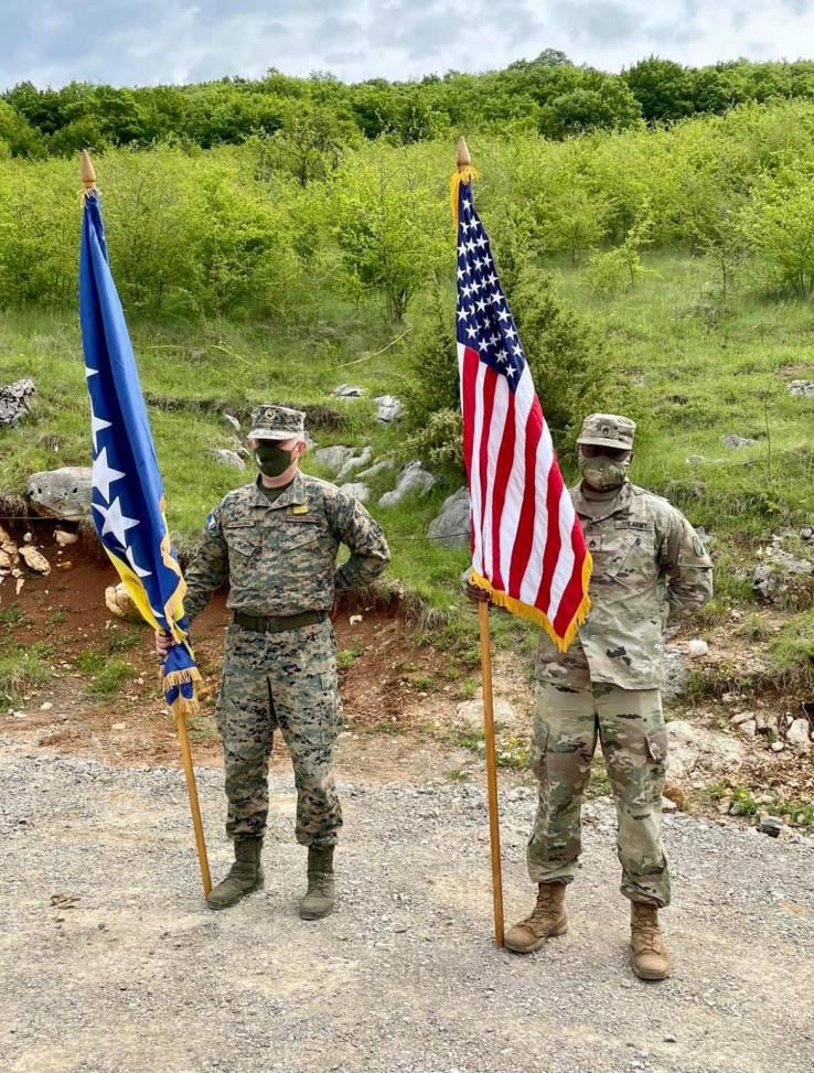 Pripadnici OSBiH i vojske SAD provode zajedničku vježbu