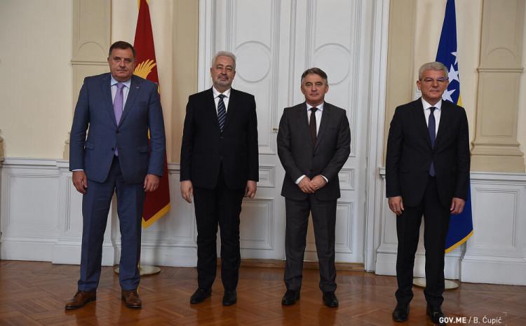 Krivokapić sa članovima Predsjedništva BiH