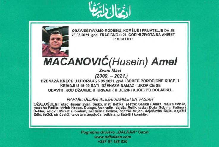 Macanović će biti ukopan u naselju Krivaja