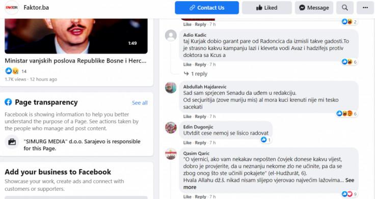 Komentar Hajdarevića na Faktoru