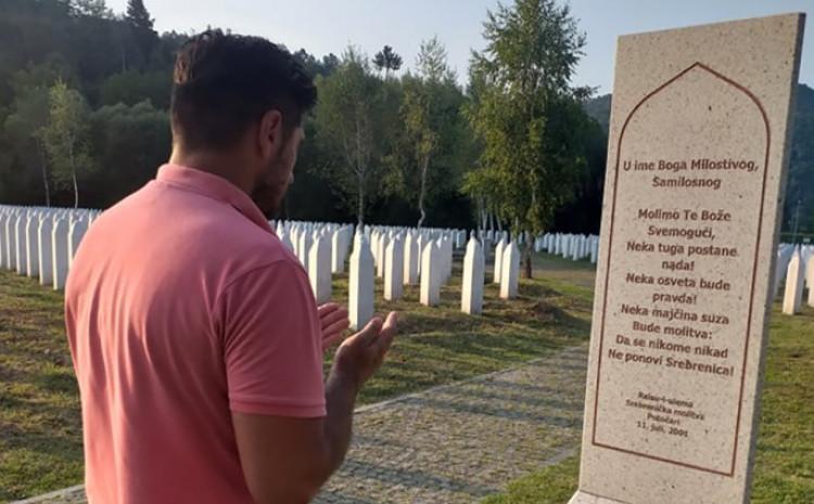 Odao počast žrtvama genocida u Srebrenici