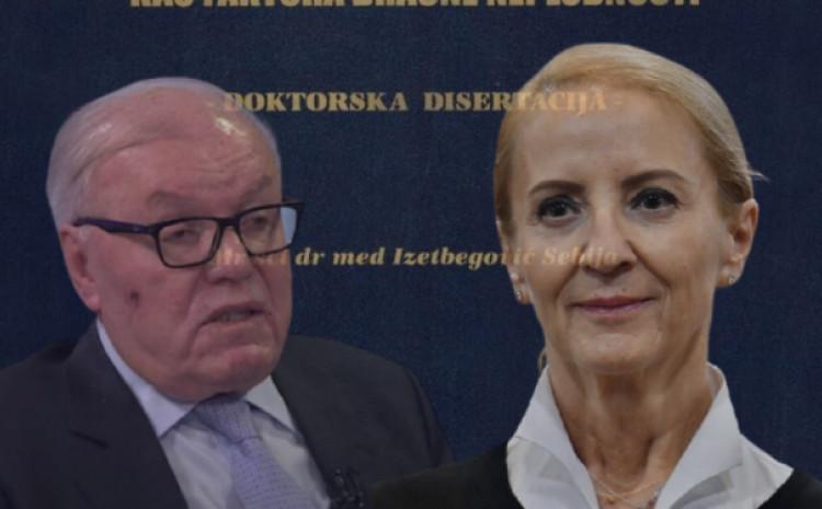 Asim Kurjak i Sebija Izetbegović