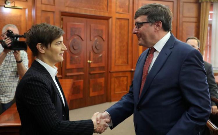 Ana Brnabić i Metju Palmer