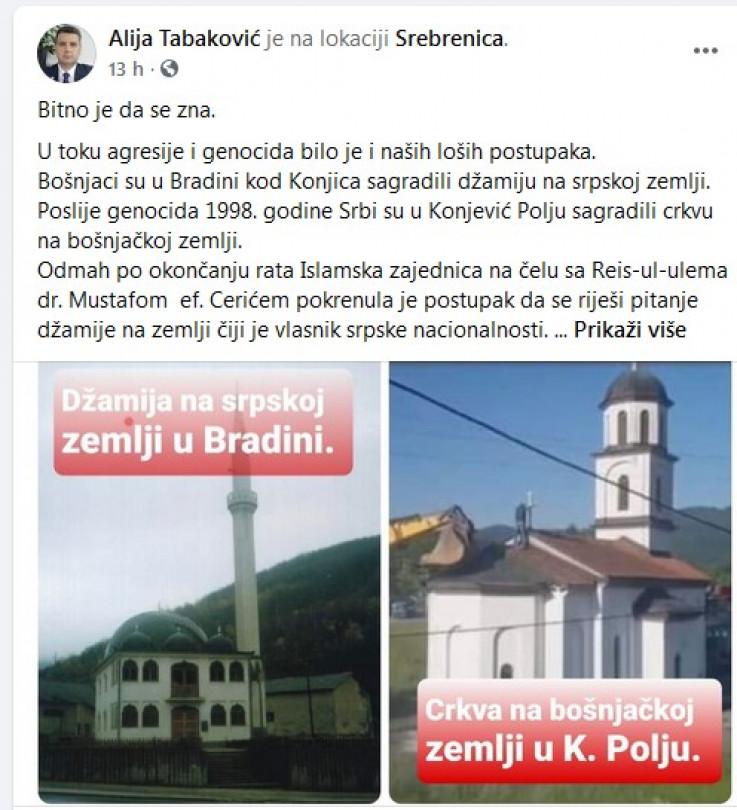 Status koji je objavio Tabaković