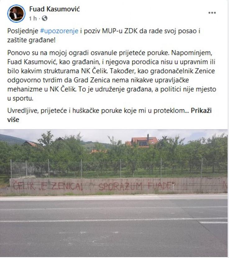 Status koji je objavio Kasumović