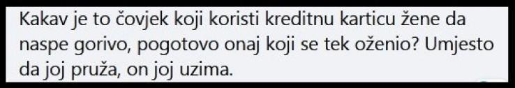 Jedan od komentara na Facebooku