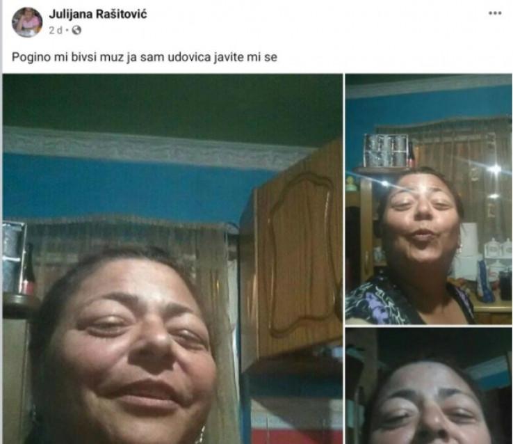 Objava Julije na Facebooku