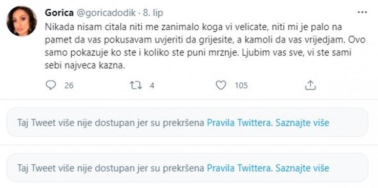 Jedan od statusa Gorice Dodik
