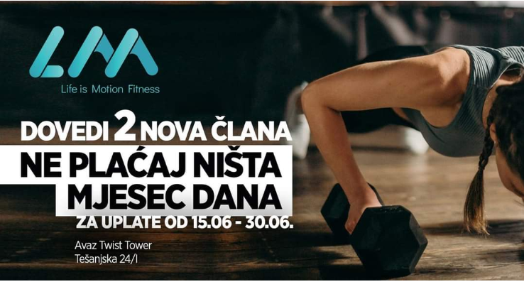 LM fitness na novoj lokaciji u Avaz Twist Toweru