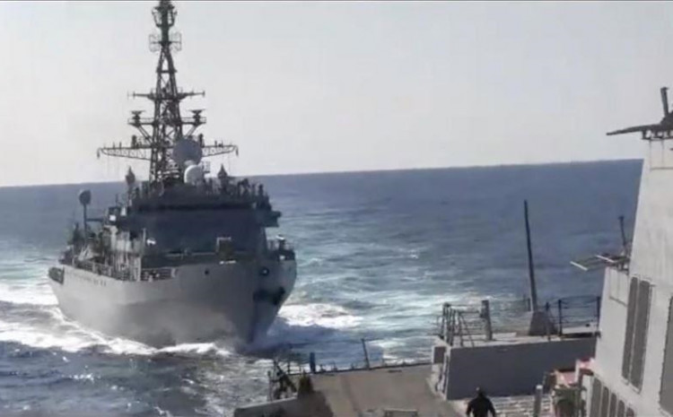 During the drill, naval officials from both countries discussed professional issues