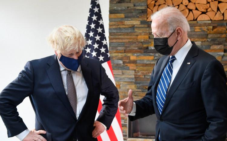 Boris Džonson i Džo Bajden