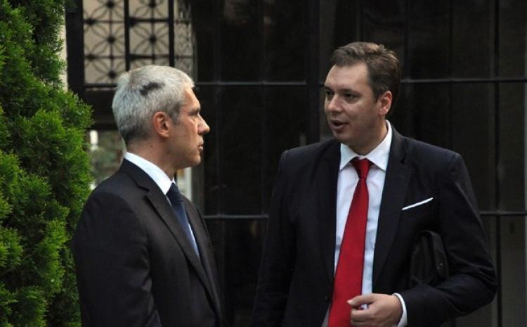 Boris tadić i Aleksandar Vučić