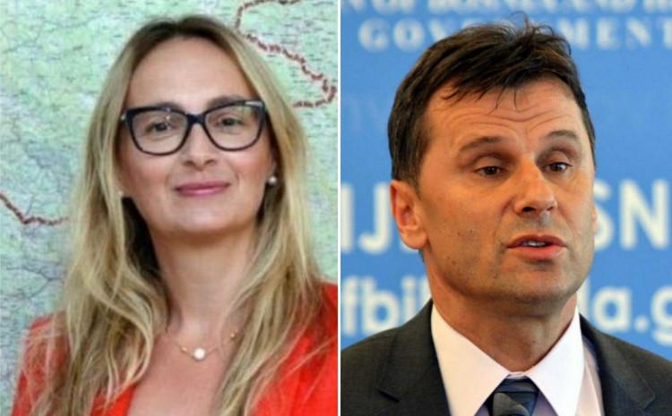 Ivana Marić i Fadil Novalić