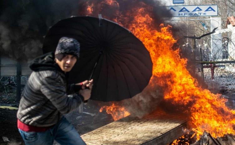 Požar u migrantskom kapu u Grčkoj