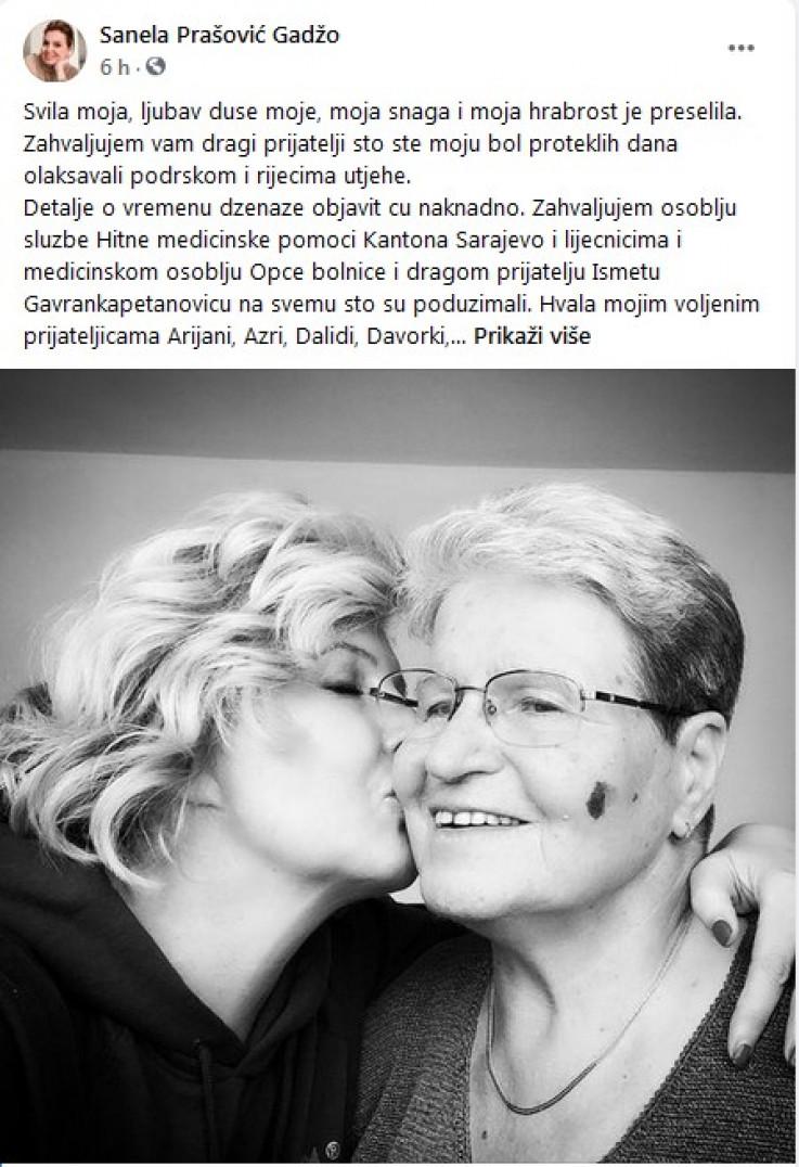 Status koji je objavila Prašović-Gadžo