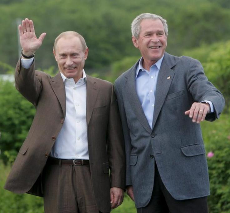 Vladimir Putin i Džordž Buš