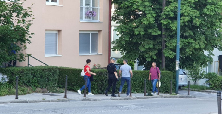 Police and investigators this morning during a search in Sarajevo