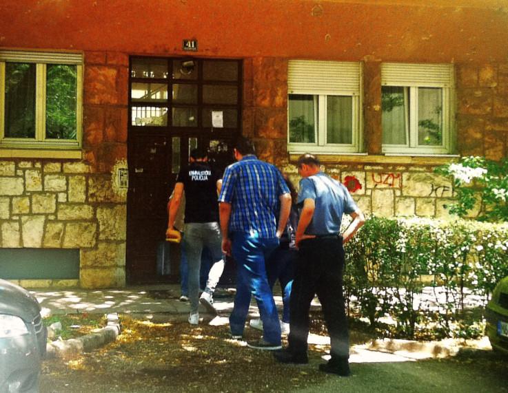 Detalj akcije u Rudarskoj ulici u Mostaru