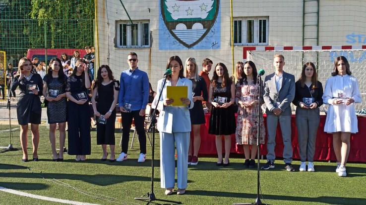 Učenici generacije na svečanosti