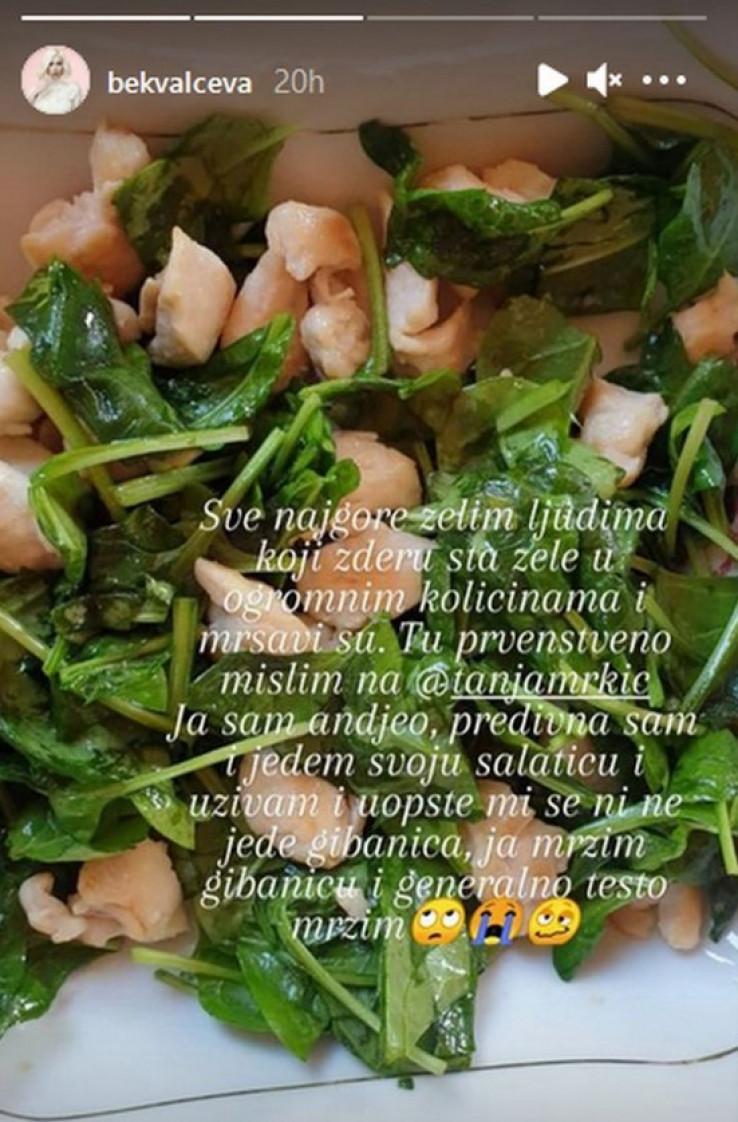 Uslikala salatu sa piletinom i poslala poruku mršavim ljudima