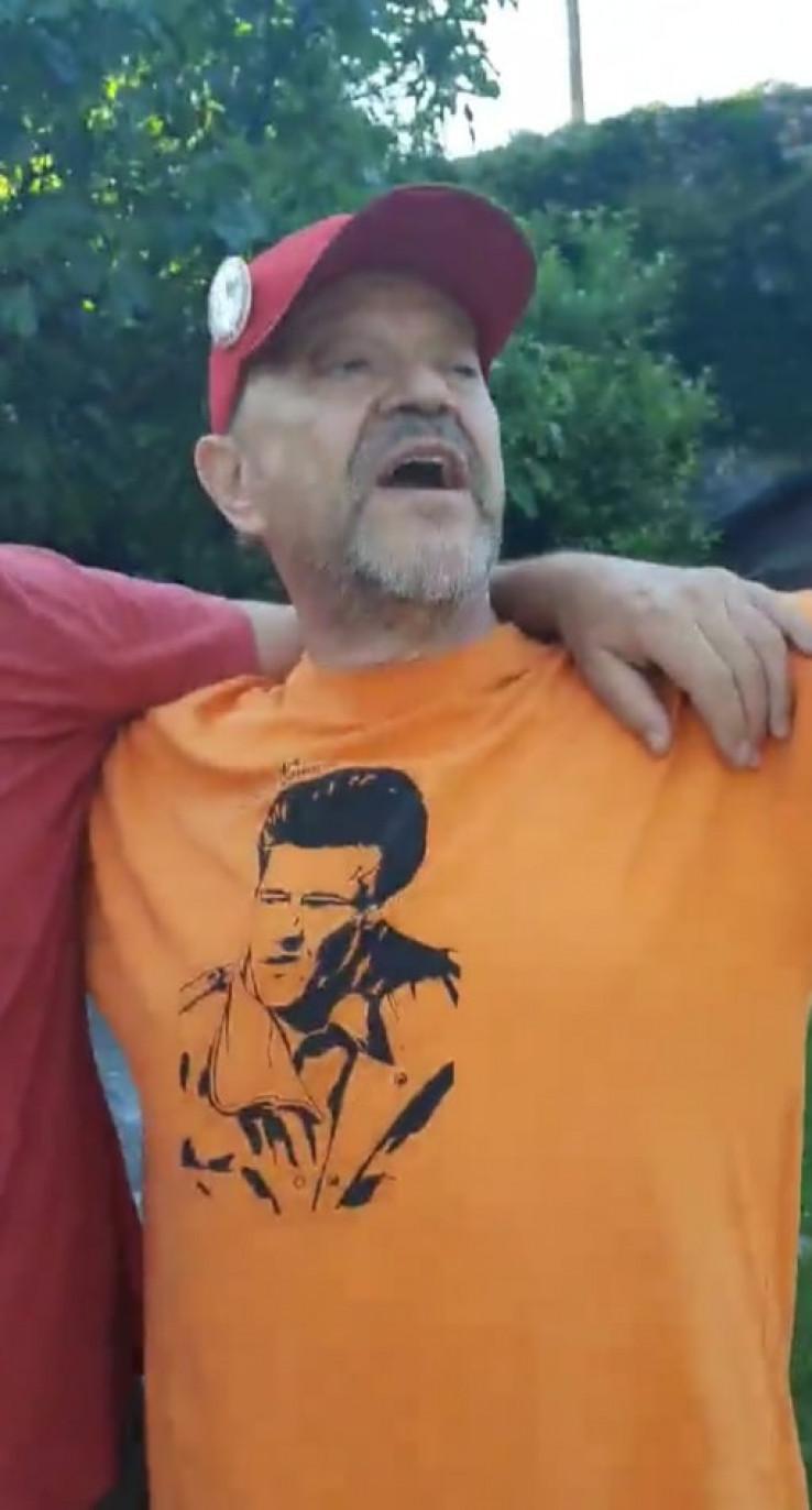 Nosio majicu s likom legendarnog komandanta Nanića