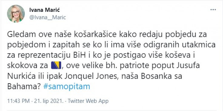 Faksimil tvita Ivane Marić