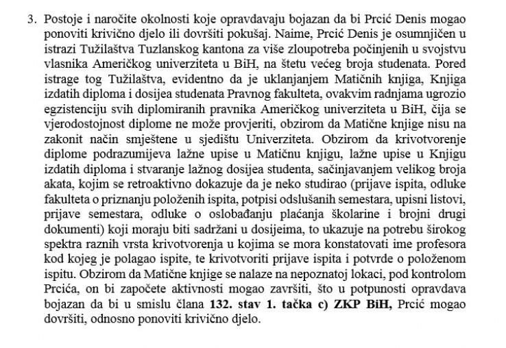 Šta je navedeno u dokumentima Tužilaštva BiH
