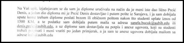 Facsimile of Belkić-Mujkanović's testimony
