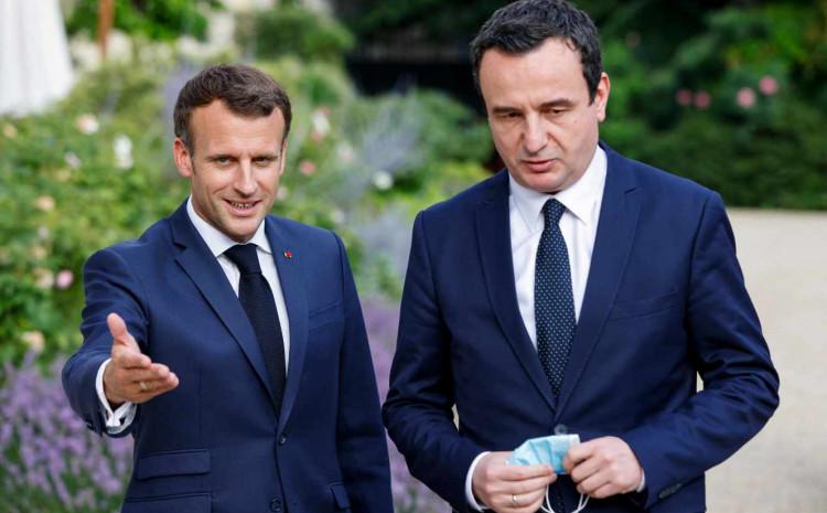 Predsjednik Franuske Emanuel Makron i kosovski premijer Albin Kurti