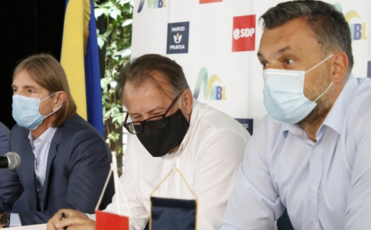 Peđa Kojović, Nermin Nikšić i Elmedin Konaković