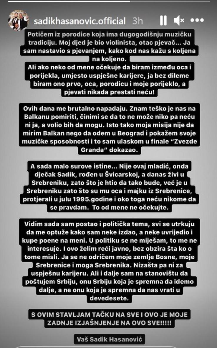 Objava na Instagram Storyju