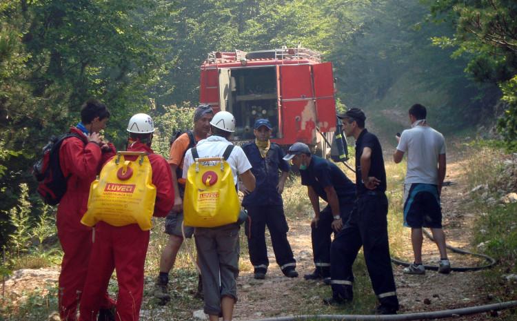 Mostarski vatrogasci na jednoj od intervencija