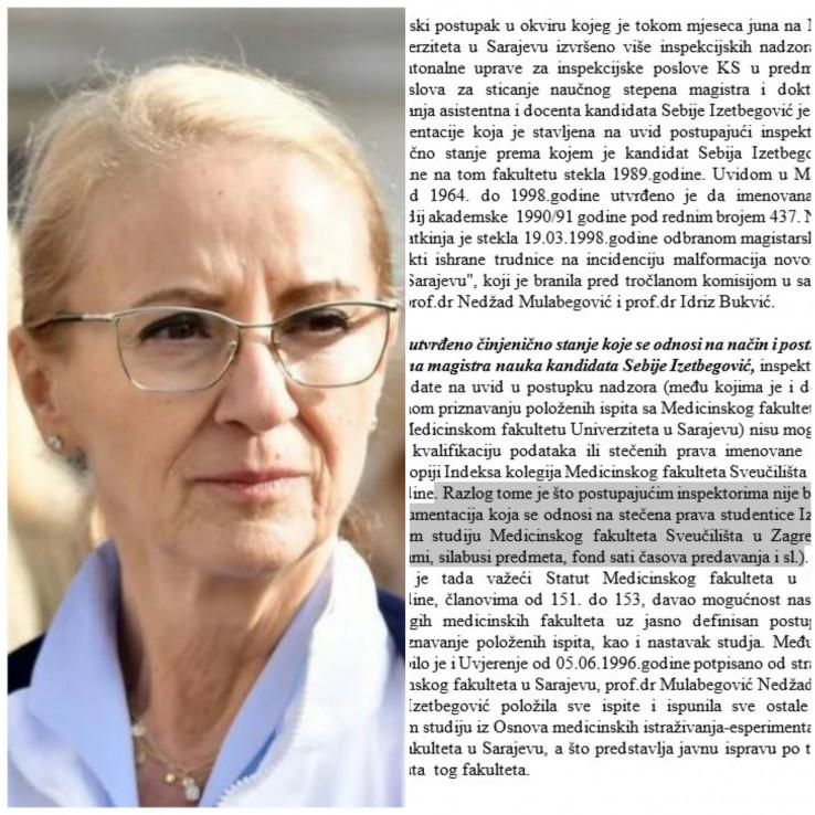 Sebija Izetbegović: Šta je utvrdila inspekcija