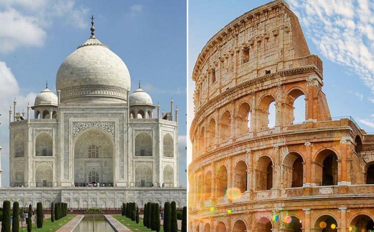 Tadž Mahal i Koloseum
