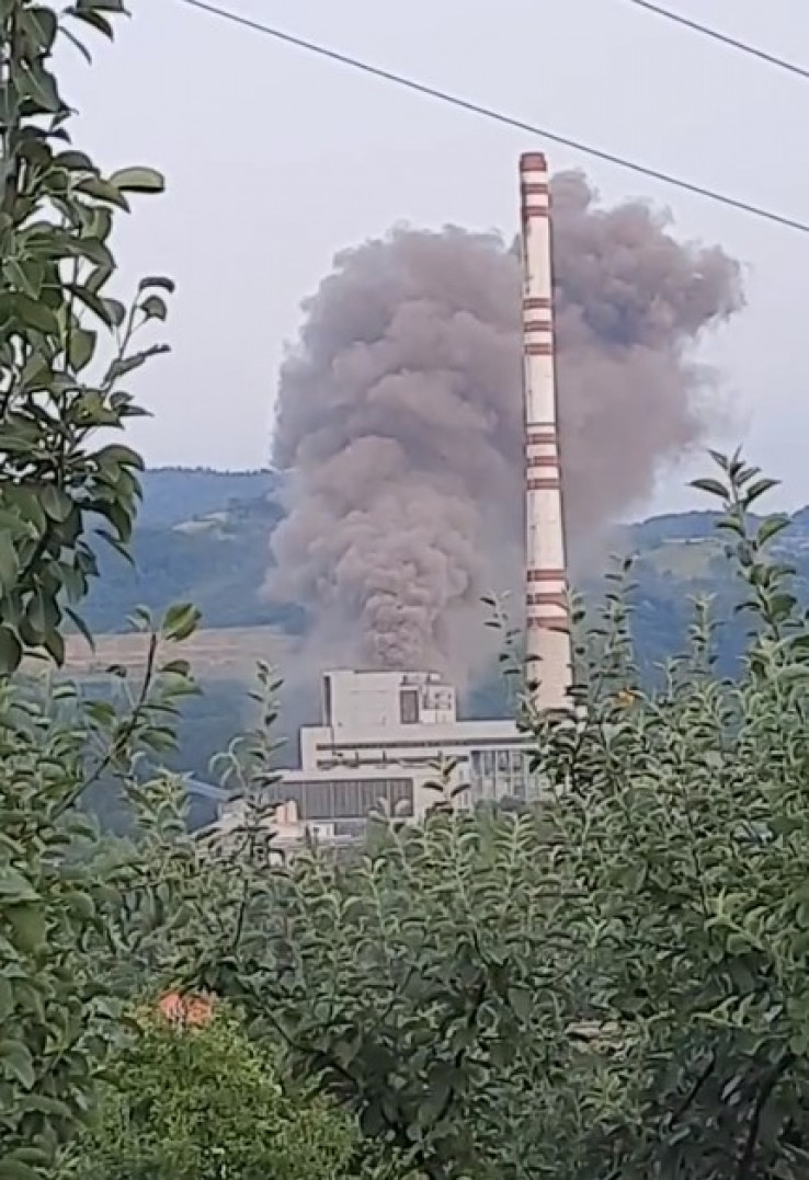 Dim iznad Termoelektrane Kakanj
