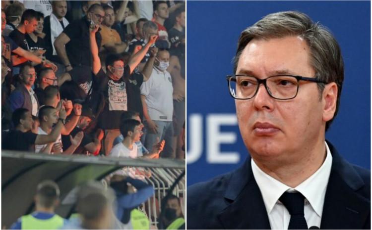 Navijači su vrijeđali Vučića prilikom proslavljanja golova