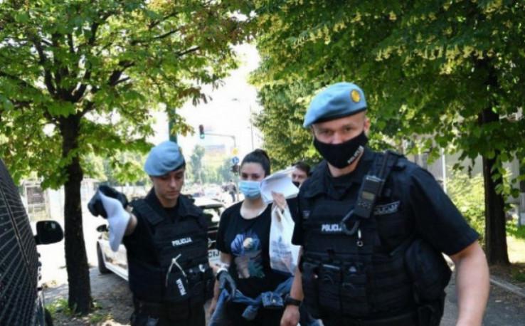 Alisa Mutap - Ramić during the arrest