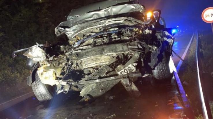 Od automobila ostala samo olupina
