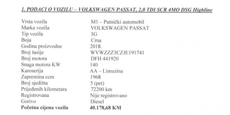 Podaci o vozilu