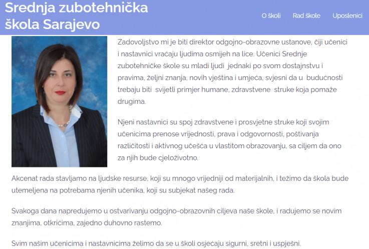 Suljić se nalazi na poziciji predsjednice Školskog odbora srednje Zubotehničke škole
