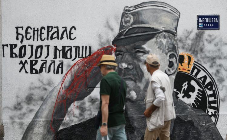 Mural sa likom Ratka Mladića