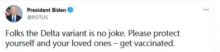 Bajden se oglasio na Twitteru