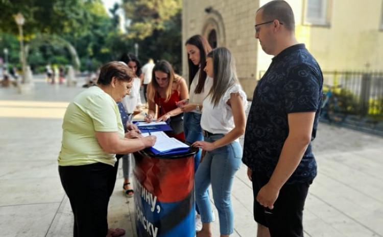Potpisivanje peticije su organizovali mladi Hercegovine i Trebinja