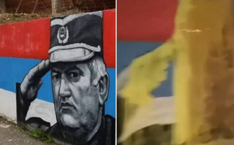 Išaran mural u Foči