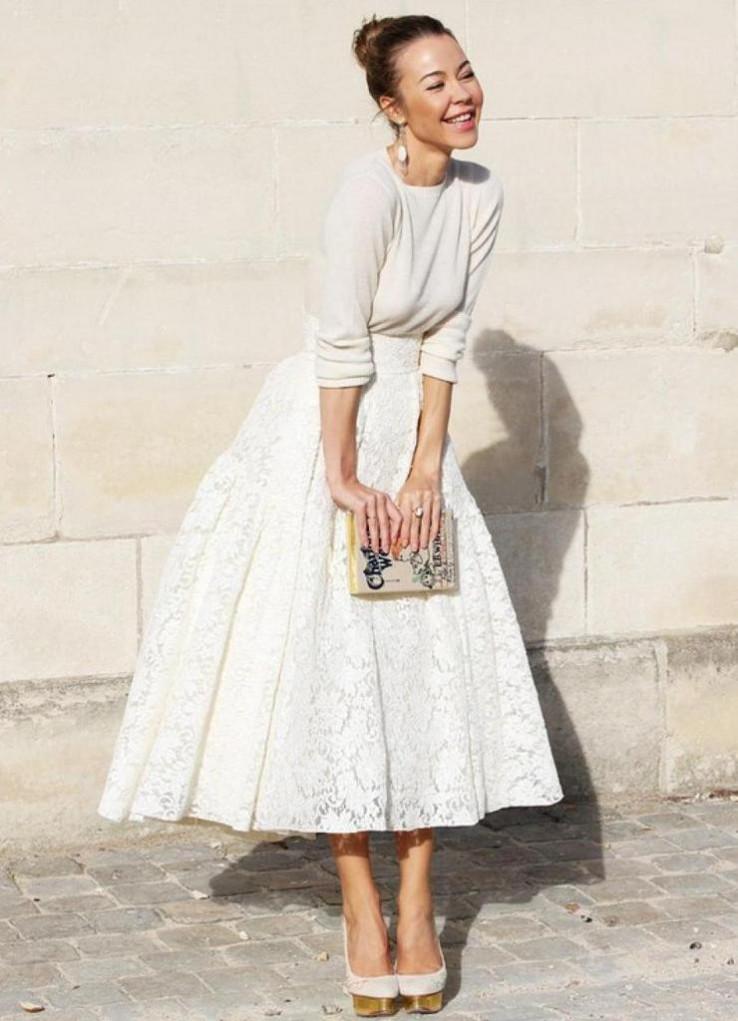 Bijela suknja uvijek odličan izbor