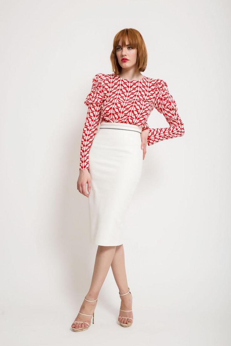Svestrana bijela suknja