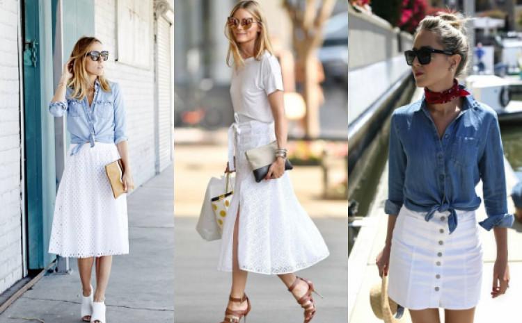 Bijela suknja je odličan izbor, kako za svečane događaje, tako i za svakodnevni život